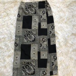 Black & white wrap skirt